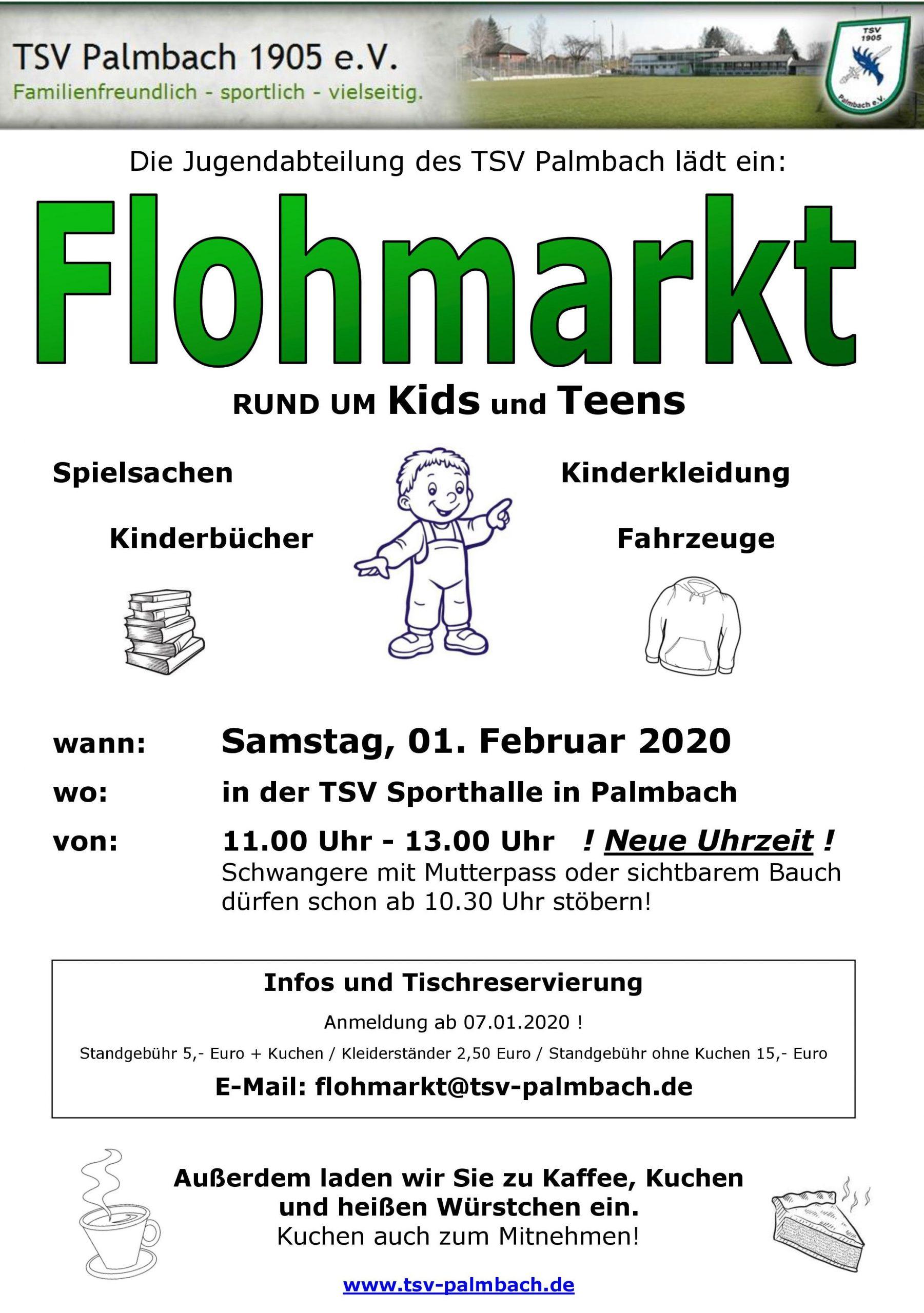 Kinder-Flohmarkt TSV Palmbach am 01.02.2020